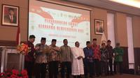 Ketua Lembaga Persahabatan Ormas Keagamaan (LPOK) Said Aqil mengkuhkan keorganisasian LPOK. (Merdeka/Intan Umbari Prihatin).
