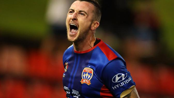 Penyerang Newcastle Jets, Roy O'Donovan. (dok Newcastle Jets)