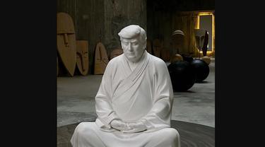 Patung Buddha Donald Trump tuai sensasi di China.