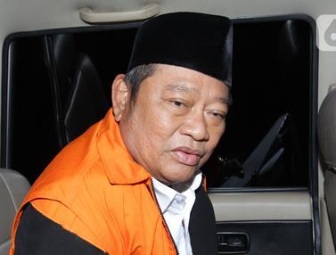Ekspresi Bupati Sidoarjo Saiful Ilah  Saat Ditahan KPK