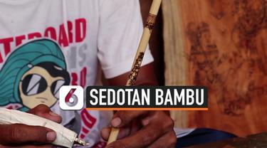 Seorang perajin muda Gede Suarsa Ariawan dari Buleleng, Bali, menciptakan sedotan bambu bergambar wayang tradisional Bali sebagai pengganti sedotan plastik. Hal ini mendukung Pergub Bali No 97 Tahun 2018 tentang Pembatasan Timbunan  Sampah Plastik Se...