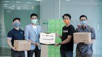 Bantuan Sembako Bagi Pengemudi Ojek Online. foto: istimewa