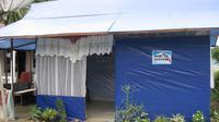 Rumah senyum, hunian sementara yang dibangun PKPU Human Initiative. (Huyogo Simbolon)