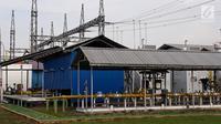 Suasana Pembangkit Listrik Tenaga Gas (PLTG) Jakabaring yang terletak di Palembang, Sumatera Selatan, Jumat (9/2). PLTG Jakabaring diresmikan pada tahun 2013 dan memiliki kapasitas 50 MW yang terdiri dari tiga mesin. (Liputan6.com/Agustina)