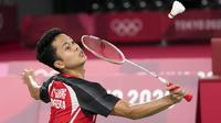 Di babak semifinal, Anthony Sinisuka Ginting akan bertemu dengan pemenang partai perempatfinal lainnya, Chen Long (Cina) melawan Chou Tien Chen (Chinese Taipei). (Foto: AP/Markus Schreiber)
