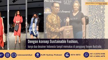 Dua desainer Indonesia di Australia, Emmythee dan Savira Lavinia berhasil menampilkan karya mereka dalam acara panggung mode Catwalk Gold Coast Fashion Project 2021 (GCPF). (Photo credit:  KJRI Sydney)