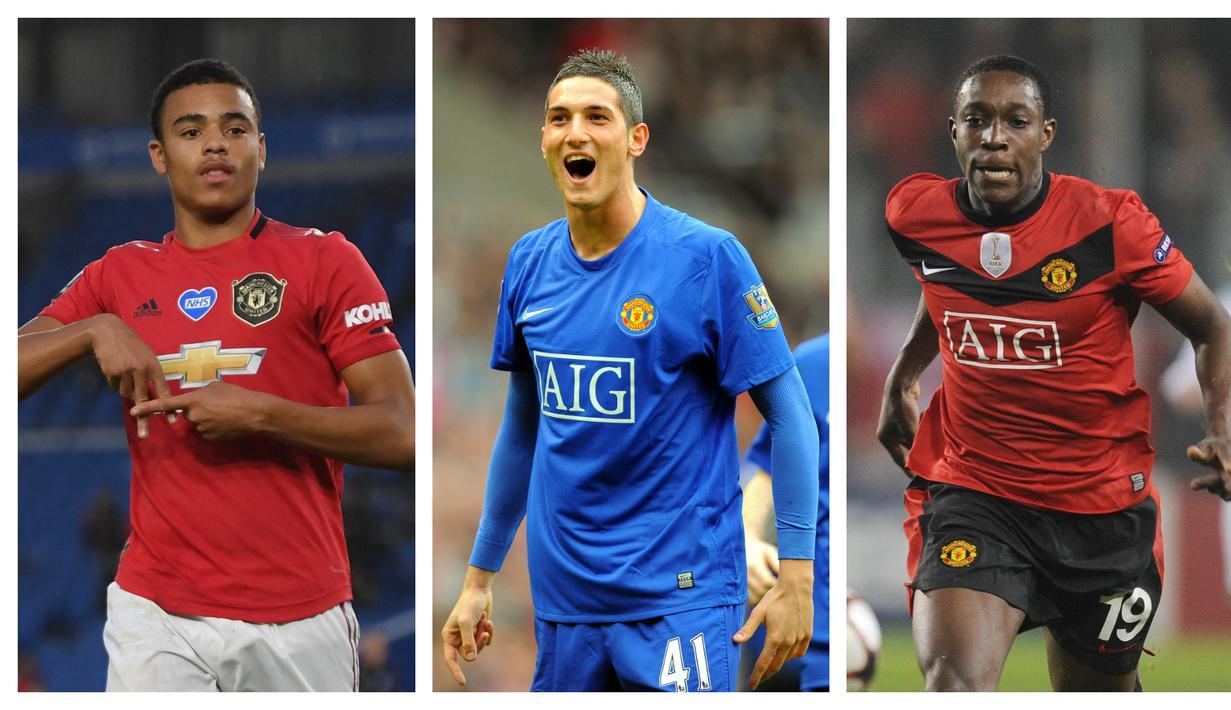 Akademi Manchester United tak henti mencetak pemain muda berkualitas. Gol-gol pun terlahir dari mereka yang mulai diberi kesempatan bermain di skuat utama. Berikut 5 pemain termuda Manchester United yang mampu mencetak gol di Liga Inggris sepanjang sejarah. (Kolase Foto AFP)
