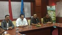 Ketua DPR Bambang Soesatyo menyambangi kantor PWI (Liputan6.com/ Radityo Priyasmoro