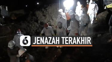Tim SAR akhirnya berhasil mengevakuasi jenazah terakhir korban musibah longsor di Sumedang Jawa Barat. Total korban tewas yang sudah ditemukan berjumlah 40.