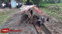 Lokasi penemuan situs peninggalan kerajaan Majapahit. (FOTO: Mulya Andika/TIMES Indonesia)