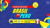 Brasil vs Perun (liputan6.com/Abdillah)