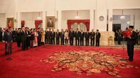 Pelantikan Anggota KEIN oleh Presiden Joko Widodo di Istana Negara, Jakarta, Rabu (20/1/2016). (Foto: Faizal Fanani/Liputan6.com)