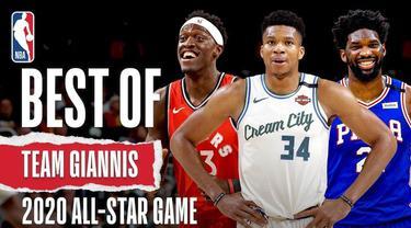 Berita video mengenai kumpulan aksi spektakuler yang diperagakan oleh Giannis Antetokounmpo dan 4 bintang dari wilayah timur lainnya yang akan berlaga pada NBA All-Star 2020 nanti.