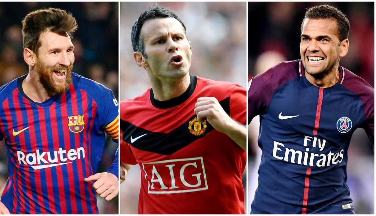 FOTO Lionel Messi Dan 6 Pemain Dengan Raihan Trofi