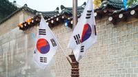 Ilustrasi bendera Korea Selatan (unsplash)