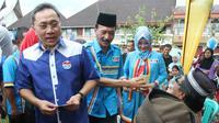 Ketua Umum PAN Zulkifli Hasan di Kabupaten Pesisir Selatan, Sumatera Barat (Liputan6.com/ Taufiqurrohman)