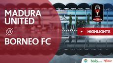 Madura United meraih kemenangan 1-0 atas Borneo FC di Stadion Maguwoharjo, Sleman, pada laga terakhir Grup D Piala Presiden 2019, Jumat (15/3/2019).