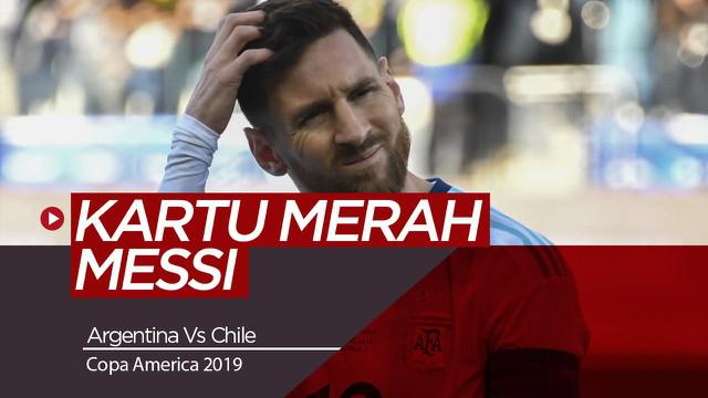 Berita Video Highlights Copa America 2019, Kartu Merah Messi Warnai Kemenangan Argentina atas Chile 2-1