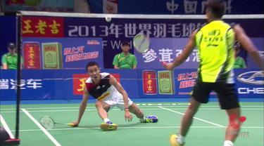 Berita video flashback bulutangkis kali ini menampilkan laga final yang super seru di Kejuaraan Dunia 2013 partai tunggal putra antara Lin Dan melawan Lee Chong Wei pada 11 Agustus.