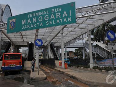 Kondisi Terminal Manggarai yang baru setahun lalu di revitalisasi kini tampak memprihatinkan, Jakarta (5/9/2014) (Liputan6.com/Johan Tallo)