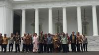 Jokowi-JK dan Menteri Kabinet Kerja Gelar Sesi Foto Terakhir (Foto: Liputan6/Ika Defianti)