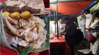 Pecel pincuk Boma di kawasan RS Fatmawati ramai dikunjungi pembeli (Liputan6.com/Komarudin)