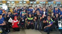 Ketua INAPGOC, Raja Sapta Oktohari, melepas para atlet peserta Asian Para Games 2018 di Bandara Soekarno Hatta, Tangerang, Minggu (14/10/2018). (Asian Para Games 2018).