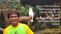 Info orang hilang bernama Yudi.