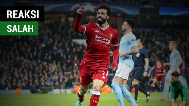 Berita video Mohamed Salah bereaksi setelah bek AS Roma, Kostas Manolas, mencetak gol untuk menyingkirkan Barcelona dari Liga Champions 2017-2018. Apa reaksi bintang Liverpool itu?
