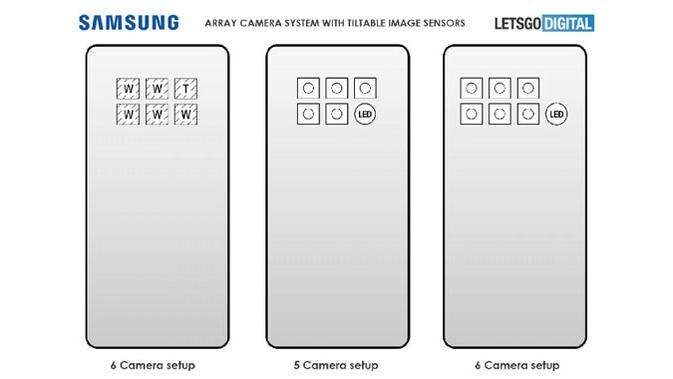 Gambar render Galaxy S30 dengan enam lensa kamera. (Doc: Samsung/ LetsGoDigital)