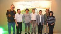 Ketua Umum PKB Muhaimin Iskandar saat menghadiri pameran lukisan tunggal karya Giri Basuki di Taman Ismail Marzuki, Jakarta Pusat, Rabu (12/9/2018). (Liputan6.com/Putu Merta Surya Putra)