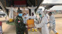 Bantuan dari Taiwan yang dijemput TNI AU di Phnom Penh, Kamboja. (Istimewa)