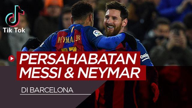 Persahabatan Lionel Messi dan Neymar. (Bola.com/Dody Iryawan)