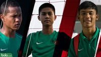 3 Pemain Bintang Timnas Indonesia U16: Amiruddin Bagus Kahfi Al Fikri, Sutan Diego Armando Ondriano Zico, dan Rendy Juliansyah (Bola.com/Foto: Vitalis Yogi /Grafis: Adreanus Titus)