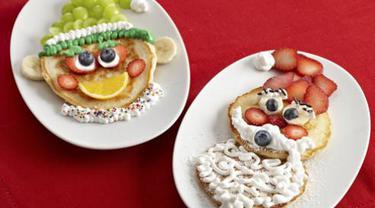Santa and Elf Pancakes