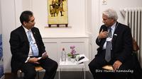 Mendag Agus Suparmanto menggelar pertemuan bilateral dengan Menteri Perdagangan dan Investasi Arab Saudi Majid Al Kasabi. Dok Kemendag