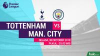 Premier League 2018-2019 Tottenham Hotspur Vs Manchester City (Bola.com/Adreanus Titus)