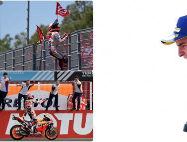 Selebrasi Nyeleneh Marc Marquez di MotoGP