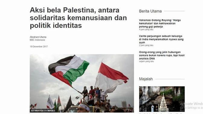 Gambar Tangkapan Layar Artikel dari Situs bbc.com