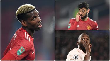 Manchester United menjadi klub yang berani menggelontorkan dana besar untuk mendatangkan pemain di bursa transfer. Paul Pogba satu diantara pemain yang didatangkan dengan harga selangit. Berikut Paul Pogba dan pembelian termahal Manchester United sepanjang masa. (kolase foto AFP)