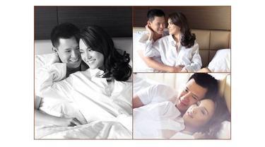 Seakan sedang dimabuk asmara, para pasangan artis ini tak ragu untuk memamerkan kemesraannya di atas ranjang.