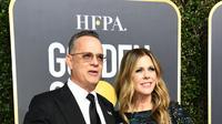 Tom Hanks dan Rita Wilson. (VALERIE MACON / AFP)