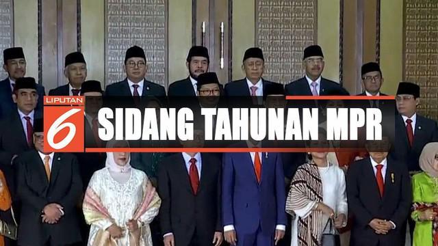 Sejumlah tokoh hadiri sidang tahunan MPR RI seperti Sandiaga Uno dan Megawati Soekarnoputri.