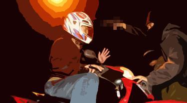 Ilustrasi Begal Motor