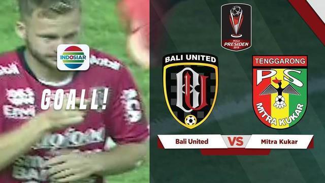 Berita video Bali United yang bisa membobol gawang Mitra Kukar dalam waktu 2 menit 10 detik dalam laga Grup B Piala Presiden 2019 di Stadion Patriot, Bekasi, Minggu (3/3/2019).