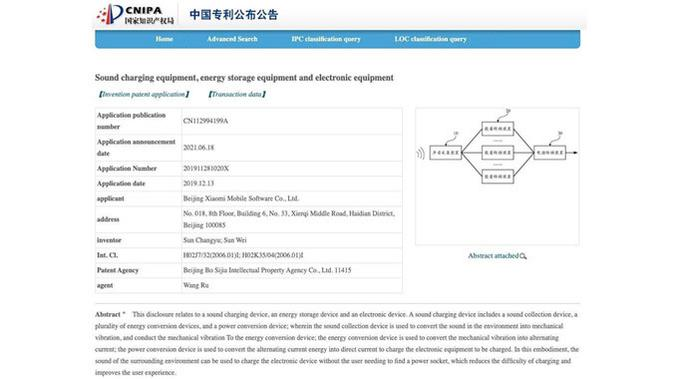 Xiaomi Daftarkan Paten Teknologi Pengisian Daya Lewat Suara. (Doc: CNIPA/ Gizchina)