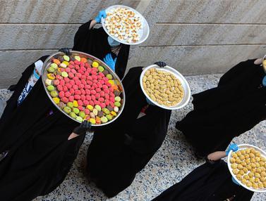 FOTO: Perempuan-Perempuan Irak Bersiap Menyambut Idul Fitri