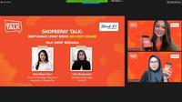 ShopeePay Talk: Bertumbuh Lewat Bisnis Online bersama Head of Strategic Merchant Acquisition ShopeePay Eka Nilam Dari dan Marketing Manager Steak21, Lilis Musliawati.