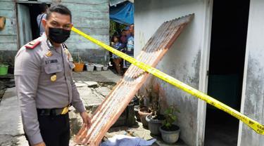 Lokasi penemuan jasad bayi di sumur oleh suami istri di Kabupaten Kuansing.