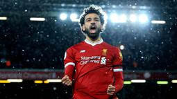 2. Mohamed Salah (Liverpool) - 18 Gol (3 Penalti). (AFP/Lindsey Parnaby)